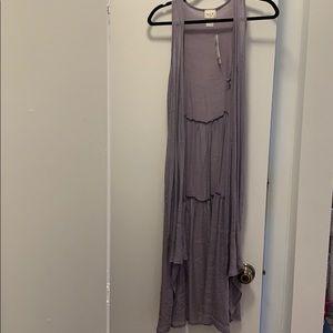 Light purple sleeveless cardigan